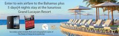Win a Trip To The Bahamas || Sweepstakes and Giveaways http://www.sweepstakesandgiveawayshub.com/