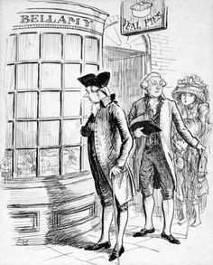 WILLIAM PITT THE YOUNGER LOOKS IN ON BELLAMY'S VEAL PIES by ERNEST HOWARD SHEPARD