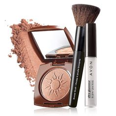 Get glowing... With this makeup set to create a full faced glowing makeup look perfect for summer!  A $23.99 value, this collection includes: