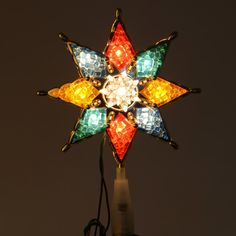 With a light in each point, this tree topper really lights up a room!