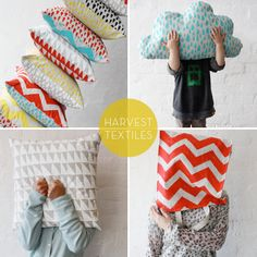 Harvest Textiles, screen print fabric and stitch like a cloud