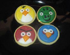 Galletas de los angry bird Sugar, Cookies, Desserts, Food, Crack Crackers, Tailgate Desserts, Deserts, Eten, Cookie Recipes