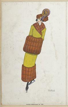 Ice Skater, Artist: Mela Koehler (Austrian, Vienna 1885–1960 Stockholm) Publisher: Wiener Werkstätte Date: 1911