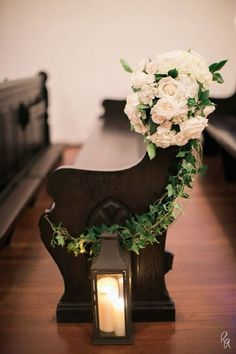 elegant flower and candle decorated church pew wedding ideas # church wedding ideas 18 Church Pew Ends Wedding Aisle Decoration Ideas to Love - EmmaLovesWeddings Elegant Wedding, Fall Wedding, Rustic Wedding, Wedding Ceremony, Dream Wedding, Trendy Wedding, Wedding Vintage, Romantic Weddings, Wedding Greenery