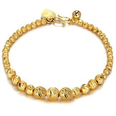 Jewelry Bride K Gold Plated Bracelet Beads And Shiny Women's Bracelet KS