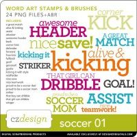 Soccer: Typesets: Soccer No. 01 Brushes and Stamps by Cathy Zielske