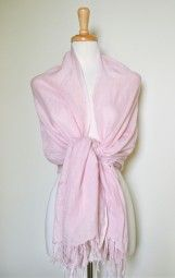 This pink linen scarf is soft and feminine, adding the right touch of sophistication to your outfit. After all, Pink is always IN!!! $26.99 Use code PINIT at checkout for 10% off your entire order.