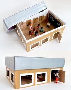 What a fun activity to make with your child! you can build anything- school, store, doctor's office...