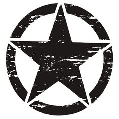 'Freedom Military Star Distressed Shirt, Stickers, Cases, Posters, Cards ' Sticker by 8675309 Bike Stickers, Star Stickers, Infinity Symbol Art, Royal Enfield Accessories, Police Officer Gifts, Black Background Images, Handsome Anime Guys, Stencil Art, Line Art