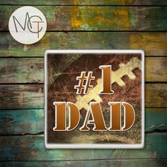 Number One Dad Drink Coasters, Football Bar Coasters, Sports, Cold and Hot Drinks, Father's Day Gift, Man Cave Decor, Made To Order by ManCaveTreasures4u on Etsy
