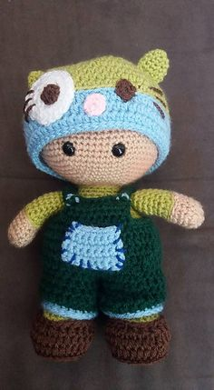 Ravelry: Weebee Big Head Mix and Match Baby Doll pattern by Laura Tegg
