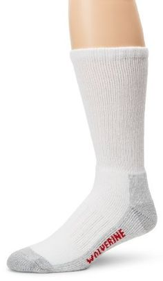 Wolverine Men's 2 Pack Steel Toe Midcalf, White, Large Wolverine. Save 8 Off!. $11.00. Rib stay up top. Made in USA. Machine Wash. Embedded arch support. 80% Cotton/16% Nylon/4% Spandex. Recommended for steel toe boots. Reinforced toe and heel. Made in the USA