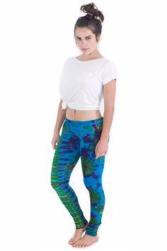 Blue Green Splash Leggings - Koia Collective