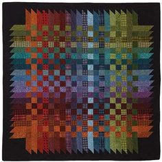 """If you break this down it's not as complicated as it looks. Squares, angled """"points"""" attached to black """"point"""" with black squares in corners"""