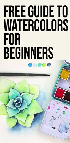 A FREE eCourse to teach you everything you need to to know to get started with watercolors: -Types of paint and paper -Core techniques -Common beginner struggles and how to overcome them, plus a FULL LENGTH watercolor succulent painting video tutorial. Watercolor Paintings For Beginners, Watercolor Tips, Watercolor Projects, Acrylic Painting Techniques, Beginner Painting, Watercolour Tutorials, Watercolor Artists, Watercolor Drawing, Watercolor Techniques