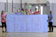 Many schools kick off their Book Fair with a Reading Rally!