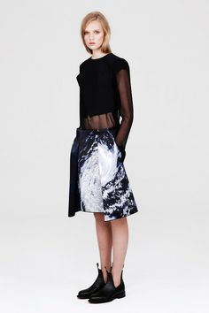 Photographic storm print skirt. Love the sense of foreboding - Dion Lee Fall 2013