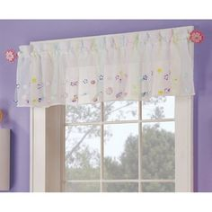 Style Selections 16-in L Streamers Tailored Valance