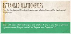 Pray A to Z: Estranged Relationships