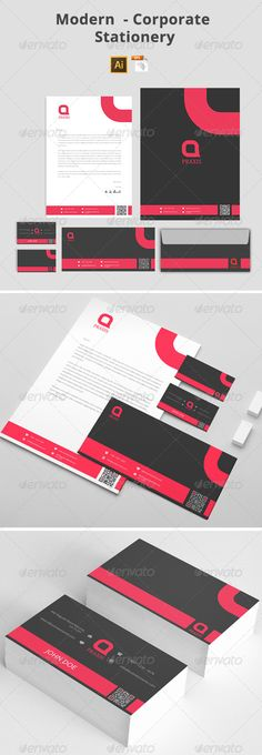 #Modern - #Corporate #Stationery - Stationery #Print #Templates Download here: https://graphicriver.net/item/modern-corporate-stationery/8020176?ref=alena994