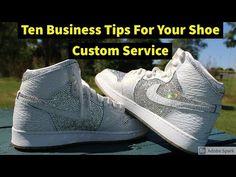 Ten Tips For Your Shoe Custom BUSINESS - YouTube Bling Wedding Shoes, Wedding Sneakers, Bling Shoes, Custom Jordans, Custom Sneakers, Custom Shoes, Custom Converse, Custom Vans, Roshe Sneakers