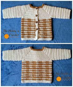 New Crochet Baby Boy Layette Bebe Ideas Crochet Baby Sweater Pattern, Gilet Crochet, Baby Sweater Patterns, Crochet Jacket, Baby Patterns, Ravelry Crochet, Crochet Patterns, Free Crochet, Cardigan Pattern