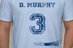 Company: Pastime Pros. Athlete: Dale Murphy #3 Atlanta Braves 1976 Rookie Year Vintage Throwback T-Shirt