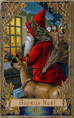 1913 French Christmas postcard