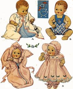 DyDee or Tiny Tears Doll Clothes PATTERNS 513 for by BlondiesSpot