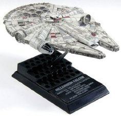 F-Toys confect DISNEY STAR WARS VEHICLE COLLECTION 5 #1 MILLENNIUM FALCON 1/350 Scale Model Figure Grey