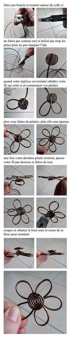 Fleur en fil de fer                                                       …