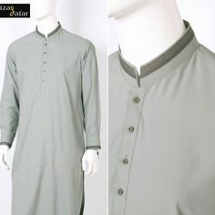Aizaz Zafar's Men kurta shalwar are always of high quality fabric with beautiful neck and border designs.This is the Eid Ul Azha collection by Aizaz Zafar see complete collection below. Salwar Kameez Mens, Pakistani Mens Kurta, Kurta Men, Kurti, Kurtha Designs, Pathani Kurta, Boys Kurta Design, Gents Kurta, Mens Kurta Designs
