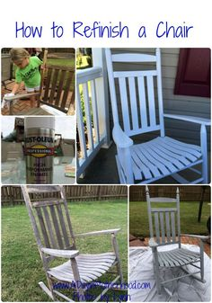 How to Refinish a Chair! This DIY tutorial is perfect for anyone looking to redecorate for less!