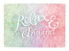 Relax & Unwind by Dominique Falla, via Behance