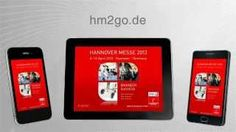 Die HANNOVER MESSE App - Der mobile Messeguide, via YouTube.