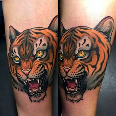 Tiger Tattoo by Javier Franco