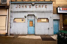 John's Cafe charming derelict storefront