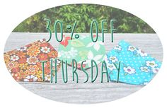 30% off select pockets! Todays patterns are so cute and flowery! Great prices and a great product.