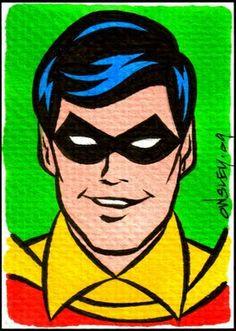 Patrick Owsley Cartoon Art and More!: NEW BATMAN & ROBIN SKETCH CARDS