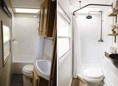 Diy Bathroom Remodel, Shower Remodel, Bathroom Renovations, Bathroom Makeovers, Cheap Renovations, Restroom Remodel, Remodeling Ideas, House Renovations, House Remodeling