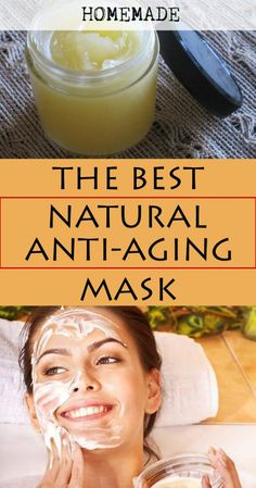 Learn how to make the best natural anti-aging mask (Homemade recipe).
