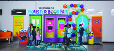 Inflate different colored balloons for a giant centipede with fangs. Generate instant Book Fair interest with book-loving beasts at your entrance!