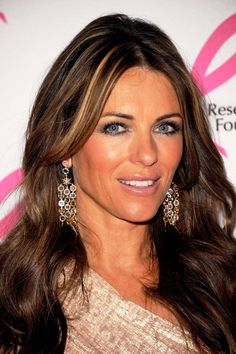 Elizabeth Hurley in H.Stern Moonlight earrings at Breast Cancer Research Foundation Gala, 2011