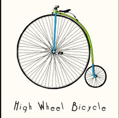 """Just remixed Aiggie's """"High Wheel Bicycle."""" It'd make a pretty adorable baby onesie! (Click the image to learn how to customize yourself and buy!) #Art #Customize #Bike"""