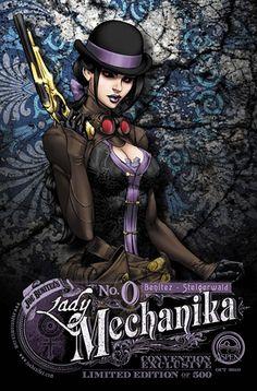 LADY MECHANIKA # 0 COVER F LBCC 2010 EXCLUSIVE BENITEZ VARIANT
