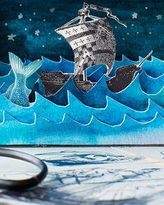 Sweet Paul - Lova's World: Handmade Shadow Boxes. Arte Pop Up, Collages, Cardboard Sculpture, Paper Pop, Landscape Artwork, Collage Illustration, Origami, Vintage Tins, Art For Kids