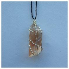 tangerine quartz point necklace