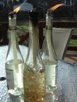 DIY: Wine Bottle Tiki Torches