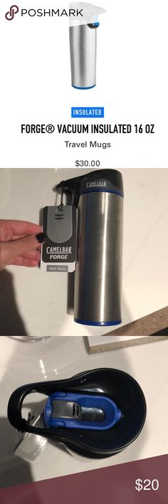 Camelbak Forge Travel Mug NWT Perfect for your next workout or hike!! This travel mug is brand new and has never been used.   Forge ahead without spills on your way to the trailhead in the morning. Sometimes water just isn't enough—that's why we reinvented the travel mug for a better on-the-go coffee and tea experience. Other