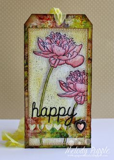Tim Holtz 12 Tags of 2015 April - Happy